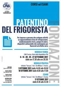 Al via il 6 settembre l'ultimo corso per il Patentino del Frigorista. Adesioni aperte