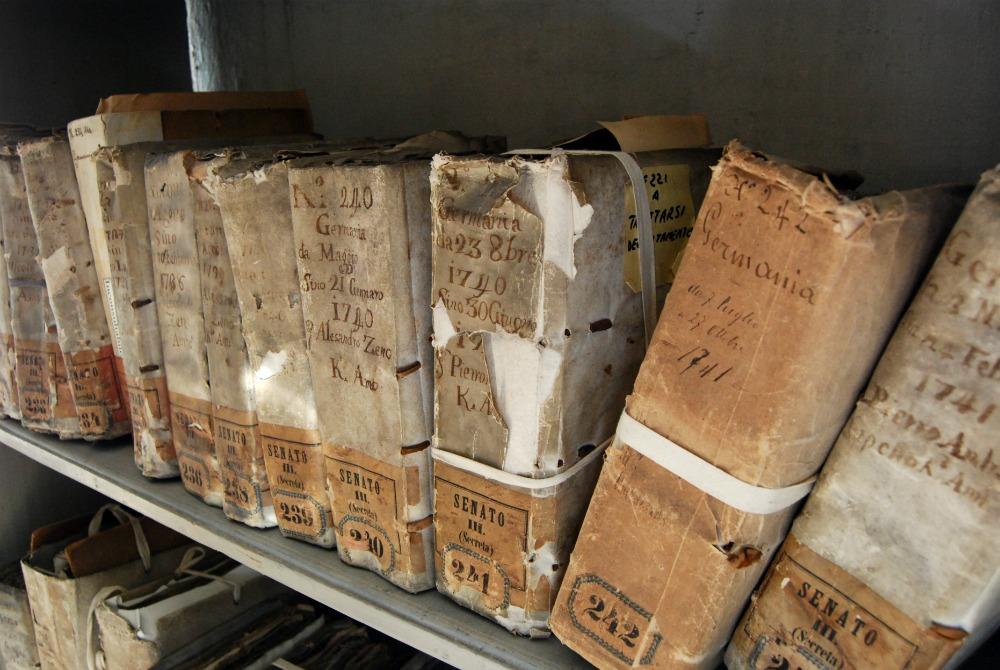 Visita agli archivi di Stato di Venezia