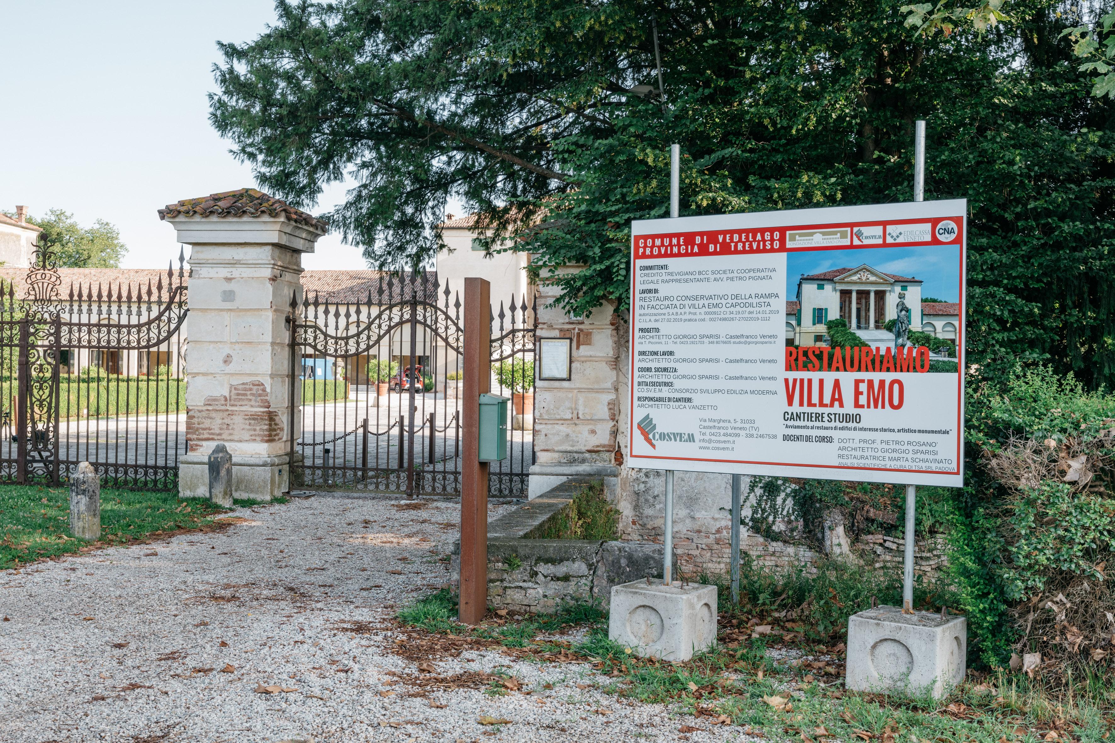 Villa Emo, chiusura del cantiere della scalinata