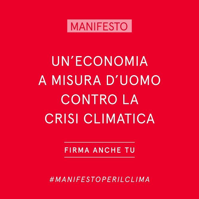FIRMA ANCHE TU il #Manifesto per il Clima