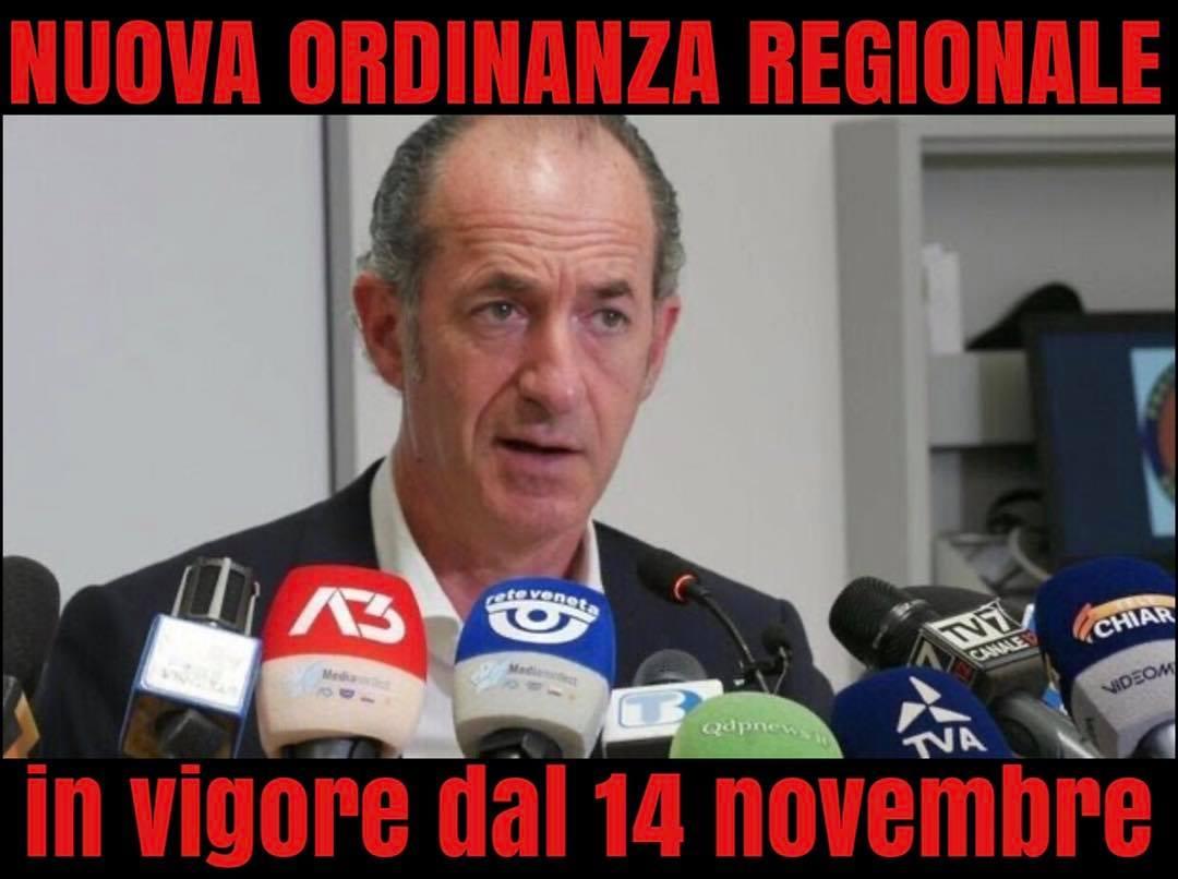 Ordinanze Regione Veneto del 12 e del 24 novembre