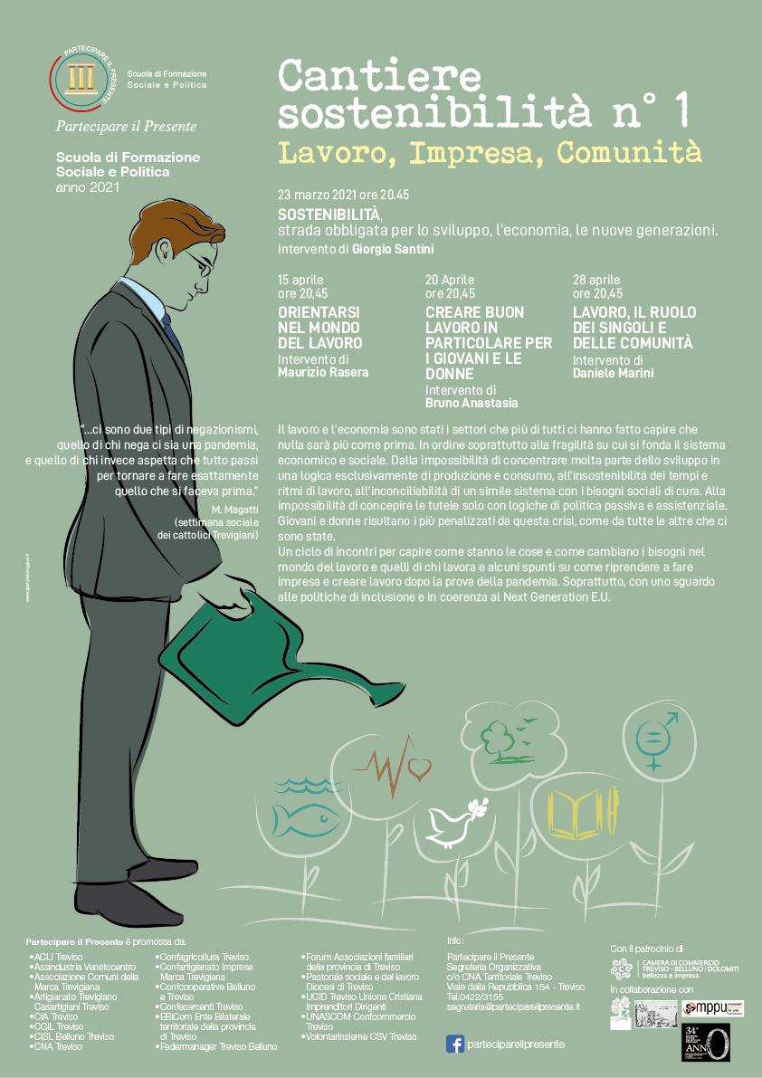 La sostenibilità: ciclo di incontri di Partecipare il Presente